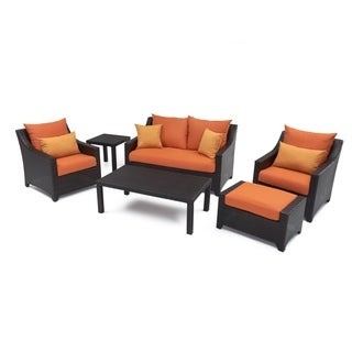 RST Outdoor 'Tikka' 6-Piece Patio Love Seat and Club Chairs Set