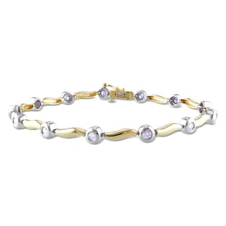 Miadora 14k Two-tone Gold 1ct TDW Diamond Bracelet (H-I, I2-I3)