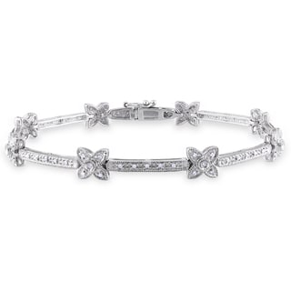Miadora 14k White Gold 1/3ct TDW Diamond Bracelet (G-H, I1-I2)
