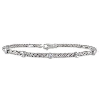 Miadora 14k White Gold Diamond Accent Bracelet