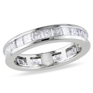 Miadora 14k White Gold 2ct TDW Diamond Eternity Ring (G-H, SI1-SI2)