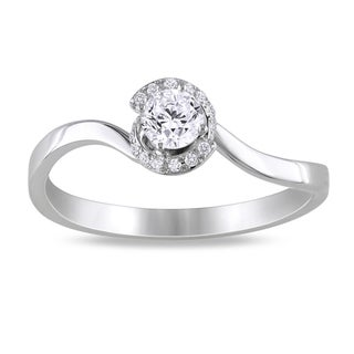 14k White Gold 1/3ct TDW Diamond Engagement Ring (G-H, SI1-SI2)