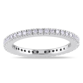 14k White Gold 1/4ct TDW Diamond Eternity Ring (G-H, SI1-SI2)