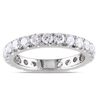 Miadora  14k White Gold 2ct TDW Diamond Eternity Wedding Band (G-H, I1-I2)