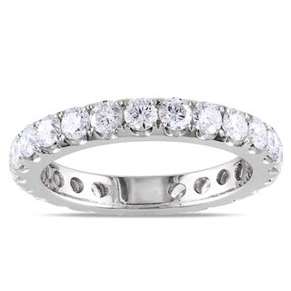 Miadora 14k White Gold 2ct TDW Diamond Eternity Band (G-H, I1-I2)