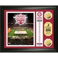 Alabama 2012 BCS National Champions Gold Coin and Banner Plaque