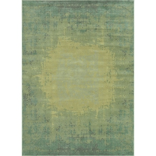 Royalty Sea/ Green Rug (3'9 x 5'6)