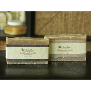 The Bath Place Sandalwood and Vanilla Handcrafted Soap Duo