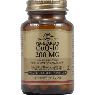 Solgar Coenzyme Q10 200mg Supplement (30 Capsules)