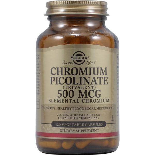 Solgar Chromium Picolinate 500mcg Supplement (120 Capsules)