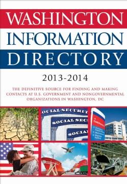 Washington Information Directory 2013-2014 (Hardcover)