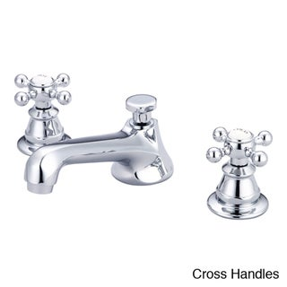Water Creation American 20th Century Classic Widespread Lavatory Faucet With Pop-Up Drain
