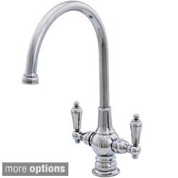 Water Creation Single Hole Goose Neck Spout Bathroom Faucet