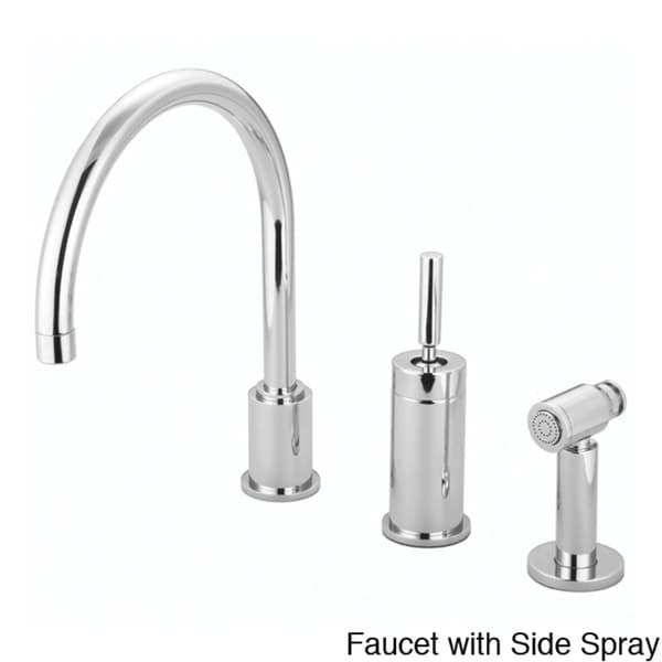 Water Creation Gooseneck Kitchen Faucet with Joy Stick Handle