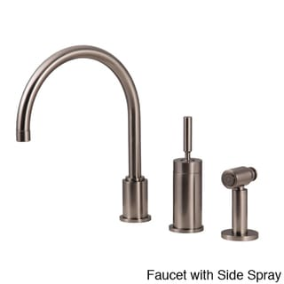 Water Creation Gooseneck Kitchen Faucet with Joy Stick Handle