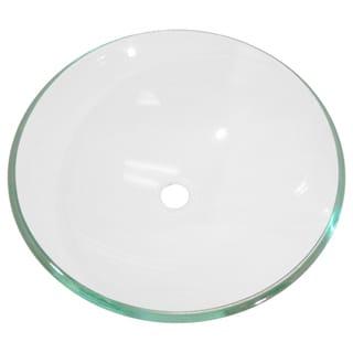 Clear Bowl Tempered Glass Vessel Bathroom Sink