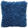 Blue Shagadelic Chenille 18-inch Double Sided Decorative Pillow
