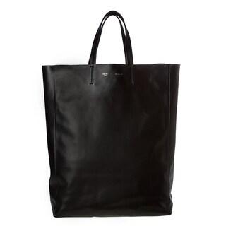 Celine Large Black Leather Tote Bag - 15065307 - Overstock.com ...