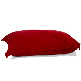 Chandler Red Faux Suede 5-foot Lounge Pillow
