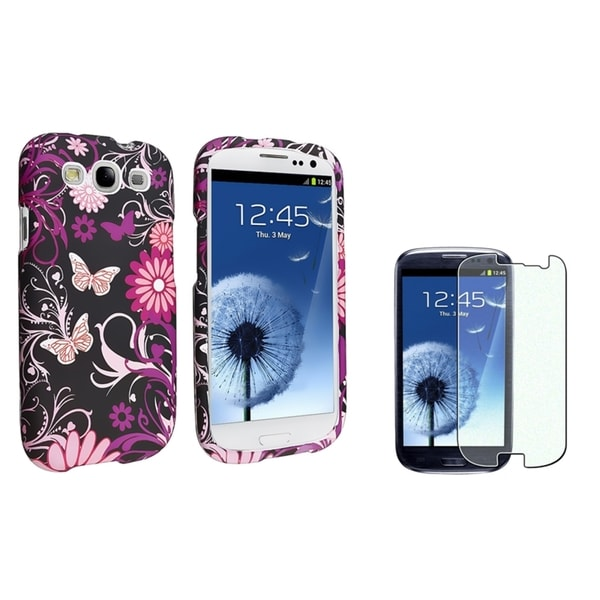 INSTEN Phone Case Cover/ Diamond LCD Protector for Samsung Galaxy S III/ S3