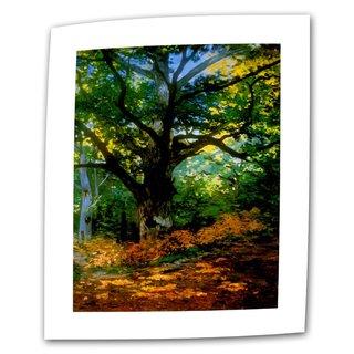 Claude Monet 'Bodmer Oak at Fountainbleau Forest' Flat Canvas