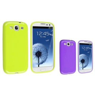 BasAcc Green TPU Case/ Purple TPU Case for Samsung Galaxy S III/ S3