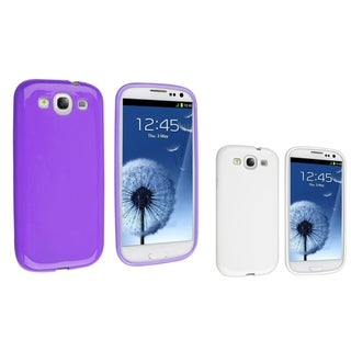 BasAcc White TPU Case/ Purple TPU Case for Samsung Galaxy S III/ S3
