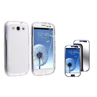 INSTEN Clear Phone Case Cover/ Mirror LCD Protector for Samsung Galaxy S III/ S3