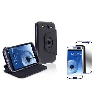 BasAcc Flip Case/ Mirror LCD Protector for Samsung Galaxy S III/ S3