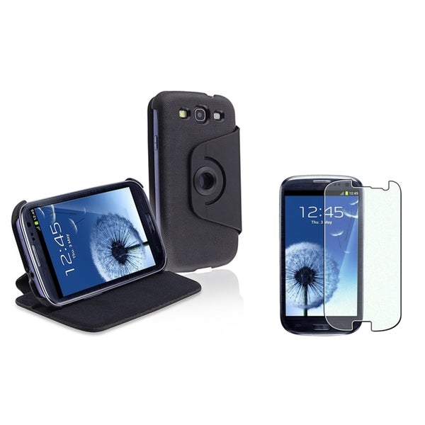 INSTEN Flip Phone Case Cover/ Diamond LCD Protector for Samsung Galaxy S III/ S3