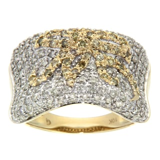D'sire 10k Gold 1 2/5ct TDW Yellow Diamond Ring (H-I, SI2)