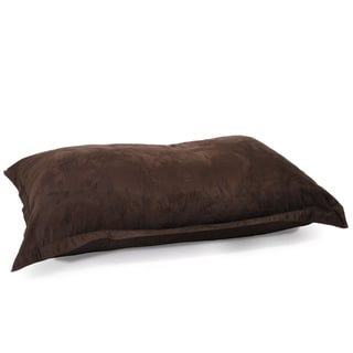 Chandler Brown Faux Suede 5-foot Lounge Pillow