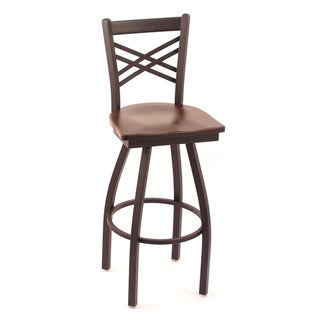 Cambridge Dark Cherry Oak Extra Tall Swivel Barstool