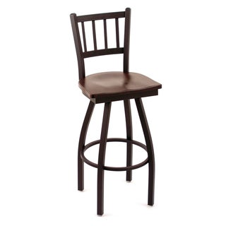 Cambridge Dark Chery Oak Extra Tall Swivel Barstool