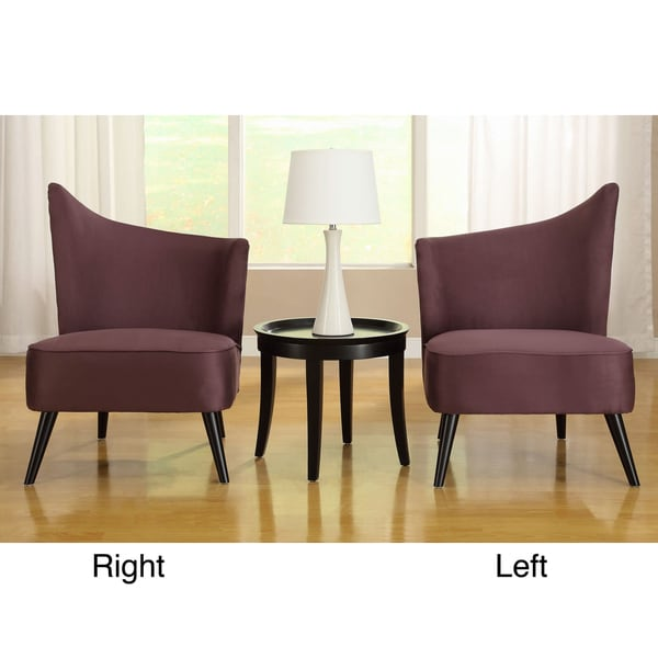 Flared back purple microfiber accent chair 15065515 shopping great deals on for Microfiber accent chairs living room