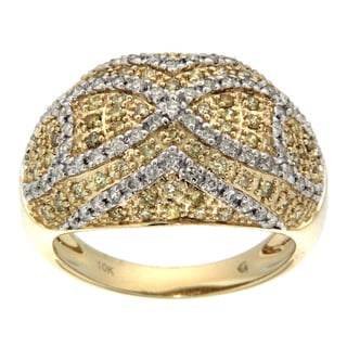 D'sire 10k Gold 1 1/10ct TDW Yellow Diamond Ring (H-I, SI2)