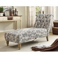 Tufted Grey iKat Fabric Chaise Lounge