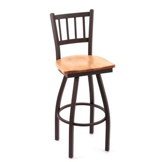 Cambridge Medium Maple Extra Tall Swivel Barstool
