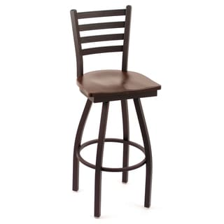 Cambridge Cherry Oak Extra Tall Swivel Barstool