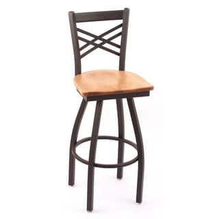 Cambridge 36-inch Maple Lattice-back Bar Stool