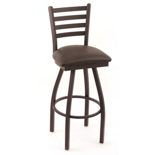 Cambridge Silversmith Black Vinyl Tall Swivel Barstool