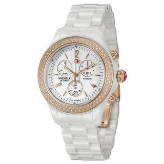 Michele Women's Rose Goldtone Steel 'Jetway' Diamond watch