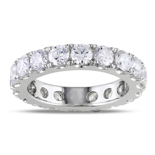 Miadora 14k White Gold 3ct TDW Diamond Eternity Ring (G-H, I1-I2)