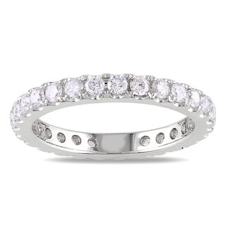 14k White Gold 1ct TDW Diamond Eternity Ring (G-H, SI1-SI2)