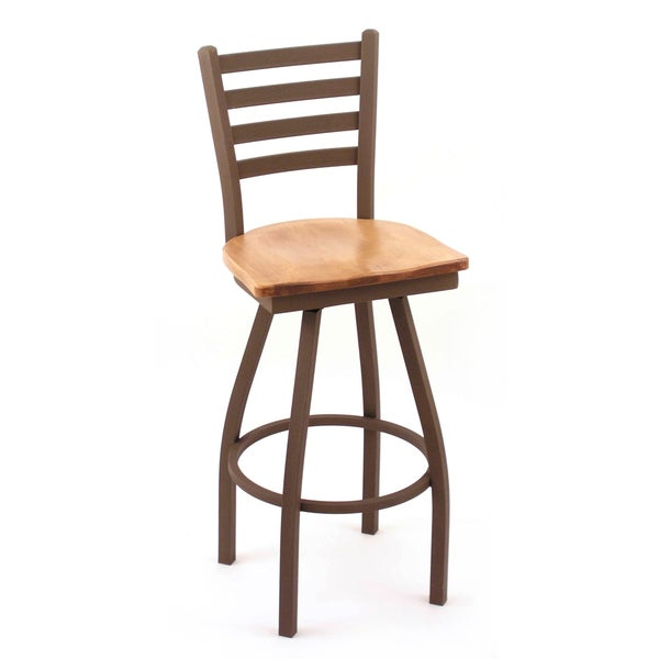Cambridge 36 Inch Maple Horizontal Slat Back Bar Stool