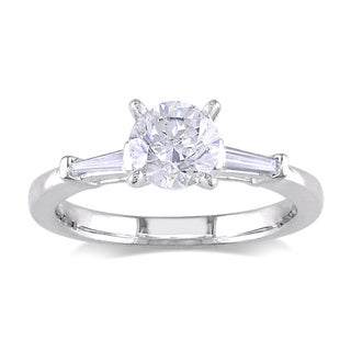 Miadora 18k White Gold 1ct TDW Diamond Engagement Ring (G-H, SI1-SI2)