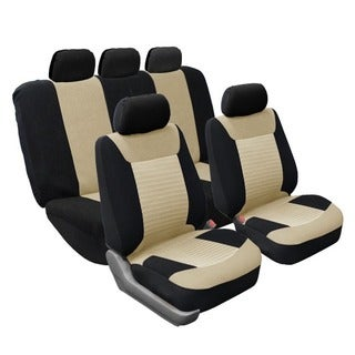 FH Group Full Set Airbag-safe Beige Seat Covers