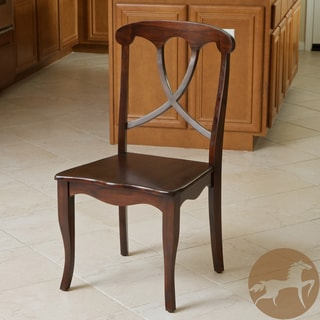 Christopher Knight Home Flora Crossback Acacia Wood Dining Chair