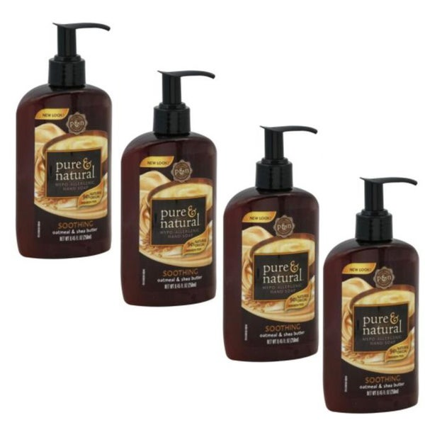Pure & Natural 8.45-ounce Soothing Hand Soap (Set of 4)