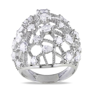 Miadora Signature Collection 14k White Gold 2 3/4ct TDW Diamond Cocktail Ring (G-H, SI1-SI2)